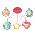 collection of hand drawn christmas vector image vector image