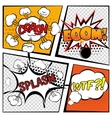 Comic Boom Set vector image vector image