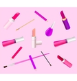 Cosmetic background vector image vector image