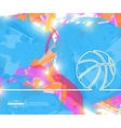 Creative basketball Art vector image vector image