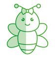 cute and tender female bee kawaii style vector image