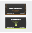 design business cards for fitness vector image