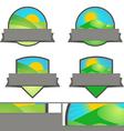 Farming Landscape Emblem Banners set vector image vector image