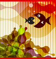 fish on retro background vector image vector image