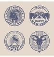 Goat badges vector image vector image