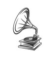 gramophone outline icon vector image vector image