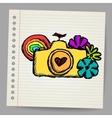 Hand drawn doodle digital camera vector image