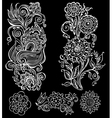 hand drawn floral ornament vector image vector image