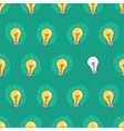 Hand drawn seamless pattern of light bulbs Idea vector image