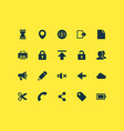 interface icons set collection of pencil earth vector image vector image