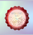 international women day badge 8 march holiday vector image
