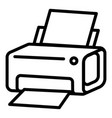 laser printer icon outline style vector image vector image