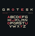 latin alphabet sans serif font in grotesk style vector image vector image