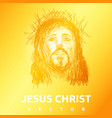 light jesus christ sun background vector image