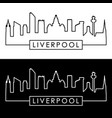 liverpool skyline linear style editable file vector image vector image