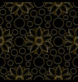 lotus and circles pink seamless pattern vector image vector image