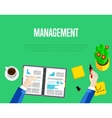 Management template Top view workspace background vector image vector image