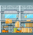manufacturing modern warehouse technology process vector image vector image