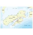 map indonesian island ambon vector image