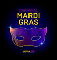 mardi gras carnival venetian mask silhouette vector image vector image