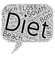 Mediterranean Diet and the South Beach Diet A vector image vector image