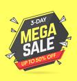 mega sale banner template in flat trendy memphis vector image vector image