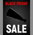 modern realistic poster for black friday sale vector image vector image