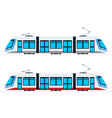 municipal electric tram flat isolated vector image