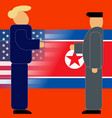 north korea and united states are negotiations vector image vector image