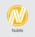 nubits virtual currency coin element of vector image vector image