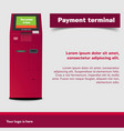 payment terminal atm poi advertising stand vector image vector image