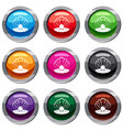 pearl in a sea shell set 9 collection vector image vector image