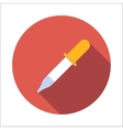 Pipette flat icon vector image vector image