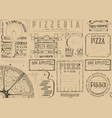 placemat for pizzeria vector image vector image