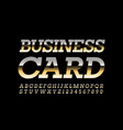 premium template business card with golden vector image