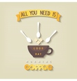 Quote poster - All you need is coffee vector image vector image