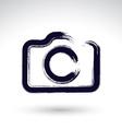 Realistic ink hand drawn digital camera icon vector image vector image