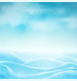 realistic winter background vector image vector image