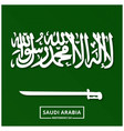 saudi arabia pixel background abstract flag vector image vector image
