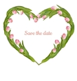 save date card with tulip eps 10 vector image