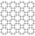seamless black squares pattern on white background vector image vector image