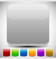 set of empty glossy square buttons square icons vector image