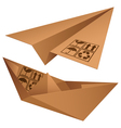 shipping symbols vector image vector image