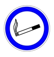 Sign place for smoking 1007 vector image vector image