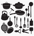 silhouettes of kitchen vector image vector image
