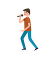 singer holding microphone performance isolated vector image vector image