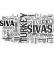 sivas word cloud concept vector image vector image
