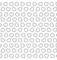 sketch silhouette pattern hearts shape vector image