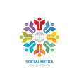 social media world - logo sign template vector image vector image
