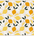 summer seamless pattern whole and cut juicy vector image vector image